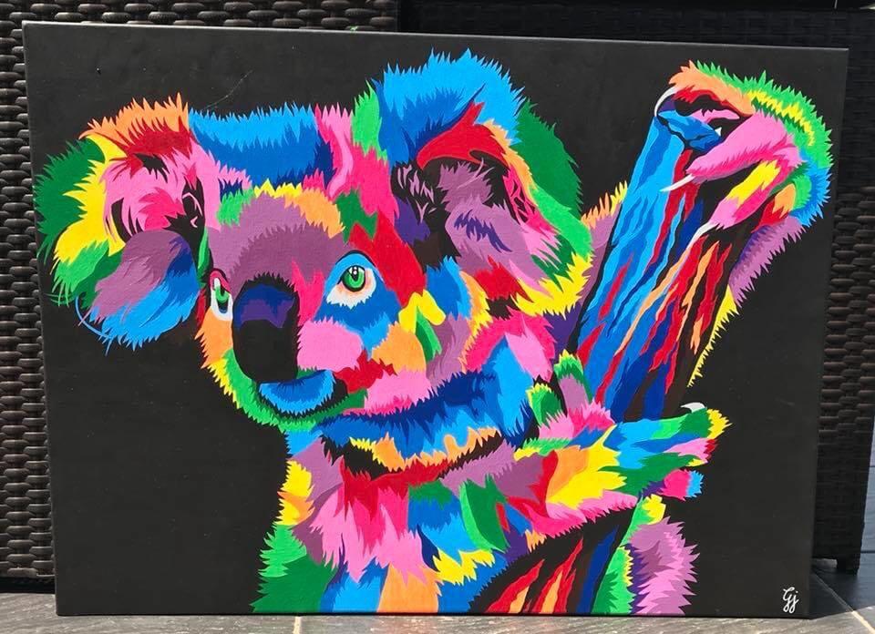 Joanie – Une artiste haute en couleurs